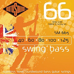 Rotosound SM665 Swing Bass 5 String RoundwoundBass Strings by Rotosound