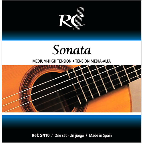 RC Strings SN10 Sonata Medium-High Tension Nylon Guitar Strings-thumbnail