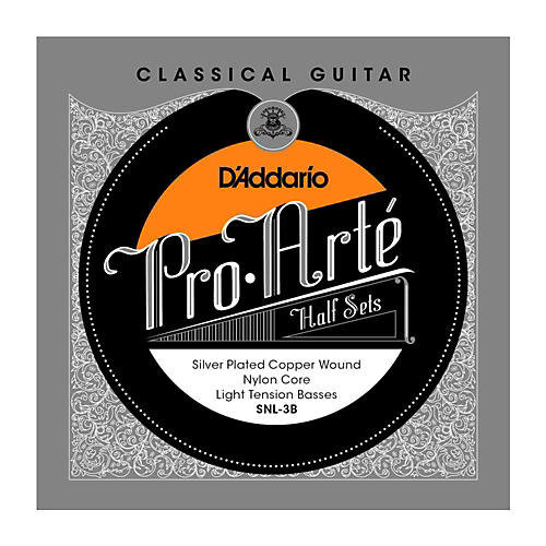 D'Addario SNL-3B Pro-Arte Light Tension Classical Guitar Strings Half Set-thumbnail
