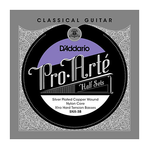 D'Addario SNX-3B Pro-Arte Extra Hard Tension Classical Guitar Strings Half Set-thumbnail