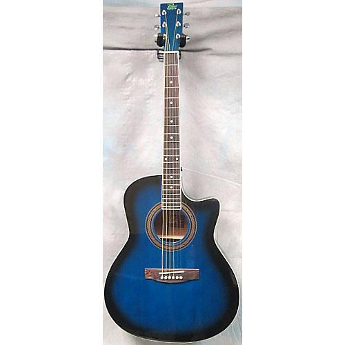 Rogue SO069 REGCEO Trans Blue Acoustic Electric Guitar-thumbnail