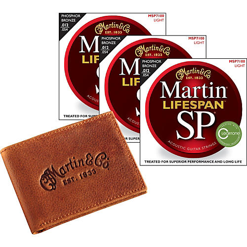 Martin SP 7100 Lifespan Light 3-pack with Martin Leather Wallet