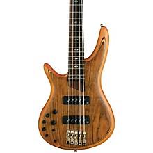 Ibanez SR1205E Left-Handed Premium 5-String Electric Bass Level 1 Flat Natural Rosewood fretboard