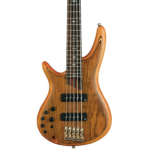 Ibanez SR1205E Left-Handed Premium 5-String Electric Bass Flat Natural Rosewood fretboard