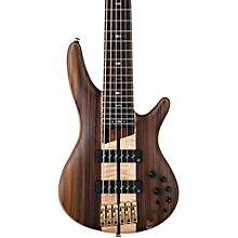 Ibanez SR1806E Premium 6-String Electric Bass Level 1 Flat Natural Rosewood fretboard