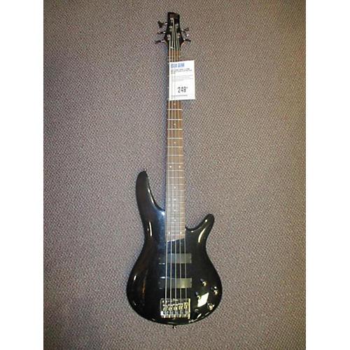 Ibanez SR305 5 String Metallic Black Electric Bass Guitar-thumbnail