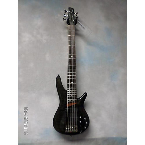 Ibanez SR706 6 String Trans Black Electric Bass Guitar