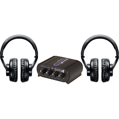 Shure SRH440 Two Pack w/ HeadAMP 4 Headphone Amp-thumbnail