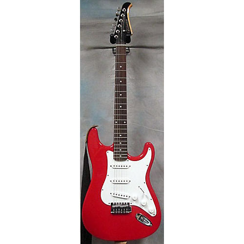 Silvertone SS-11 Red Solid Body Electric Guitar