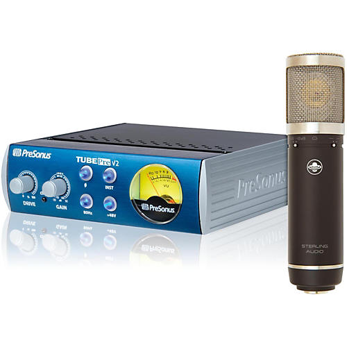 Sterling Audio ST55 Condenser Mic with TubePre V2 Mic Preamp Mic Bundle-thumbnail