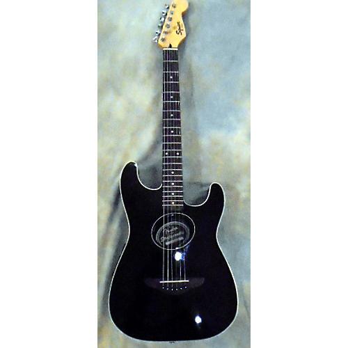 used squier stratacoustic acoustic electric guitar black guitar center. Black Bedroom Furniture Sets. Home Design Ideas