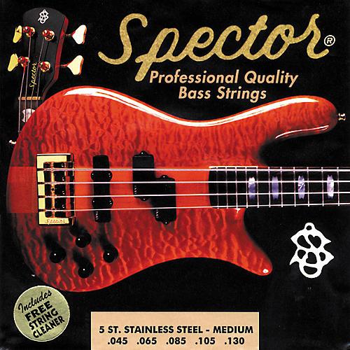 Spector STSS45-130 5-String Stainless Medium Bass Strings-thumbnail