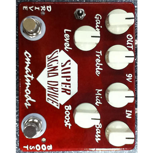 In Store Used SUPER SIGNA DRIVE Red Effect Pedal-thumbnail