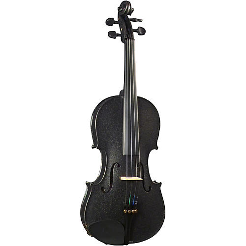 Cremona SV-130BK Series Sparkling Black Violin Outfit-thumbnail