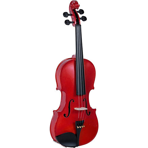 Cremona SV-130RD Series Sparkling Red Violin Outfit 4/4 Size