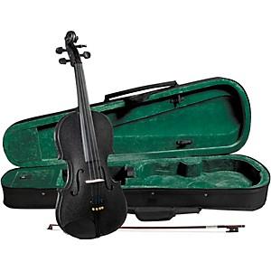 Cremona SV-75BK Premier Novice Series Sparkling Black Violin Outfit by