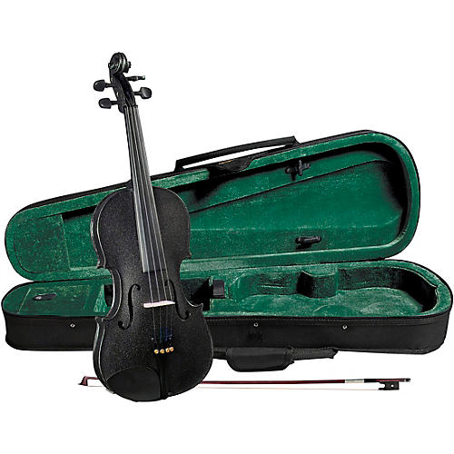 Cremona SV-75BK Premier Novice Series Sparkling Black Violin Outfit-thumbnail
