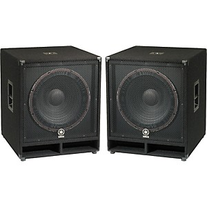 Yamaha SW118V Club Series V 18 inch Subwoofer Pair by Yamaha