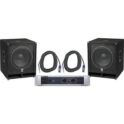 Yamaha SW118V/ P7000S Speaker & Amp Package