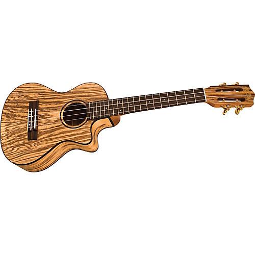 Lanikai SZW-TCA Cutaway Zebrawood Tenor Acoustic-Electric Ukulele-thumbnail