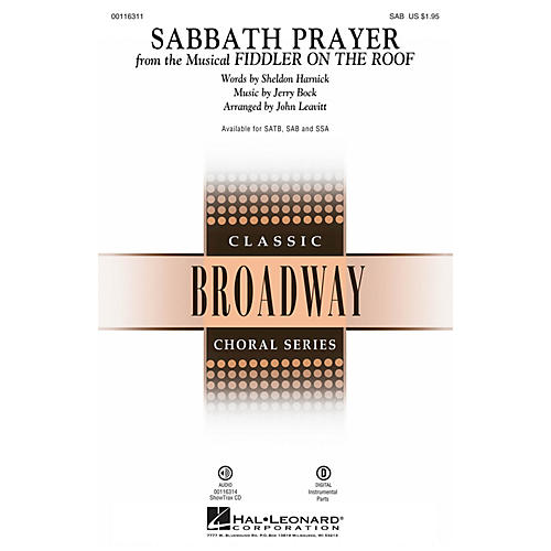 Hal Leonard Sabbath Prayer (from Fiddler on the Roof) SAB by Fiddler On The Roof (Musical) by John Leavitt