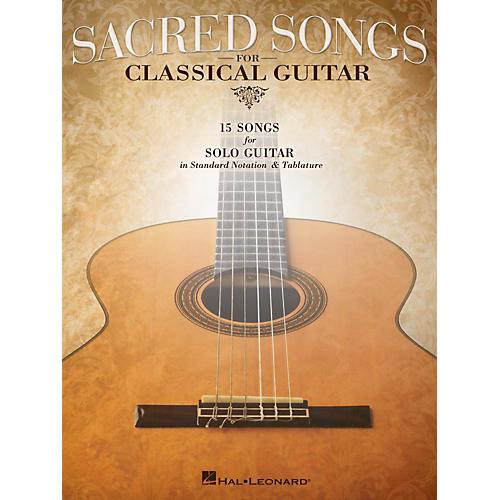 Hal Leonard Sacred Songs For Classical Guitar (Standard Notation & Tab) Songbook-thumbnail
