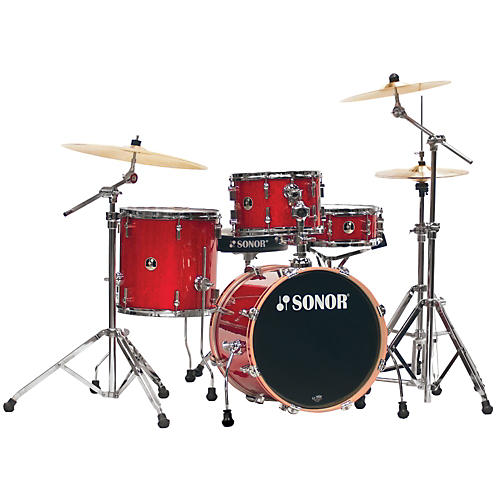 Sonor Safari 4-Piece Shell Pack Red Galaxy Sparkle