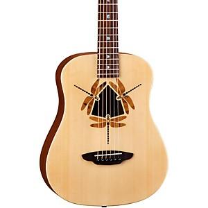 Luna Guitars Safari Dragonfly 3/4 Size Travel Acoustic Guitar