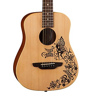 Luna Guitars Safari Fantasy Travel Acoustic Guitar