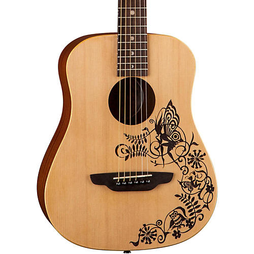 Luna Guitars Safari Fantasy Travel Acoustic Guitar Natural