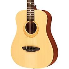 Luna Guitars Safari Muse Spruce 3/4 Size Travel Acoustic Guitar Package