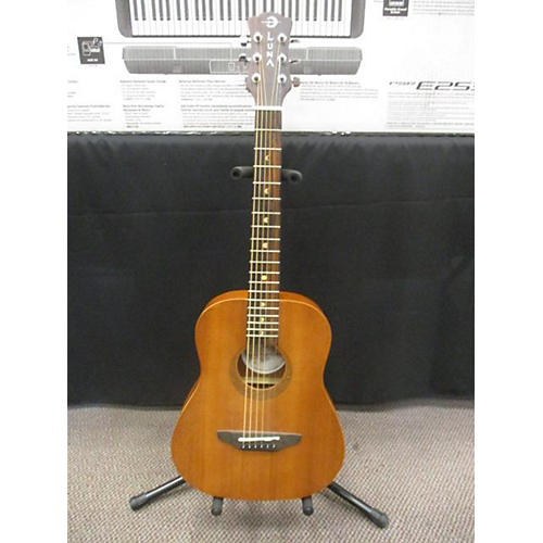 Luna Guitars Safari Tattoo 3/4 Size Acoustic Guitar-thumbnail