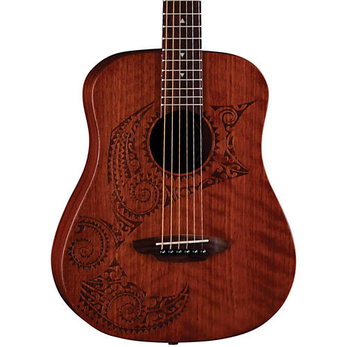 Luna Guitars Safari Tattoo 3/4 Size Travel Guitar-thumbnail