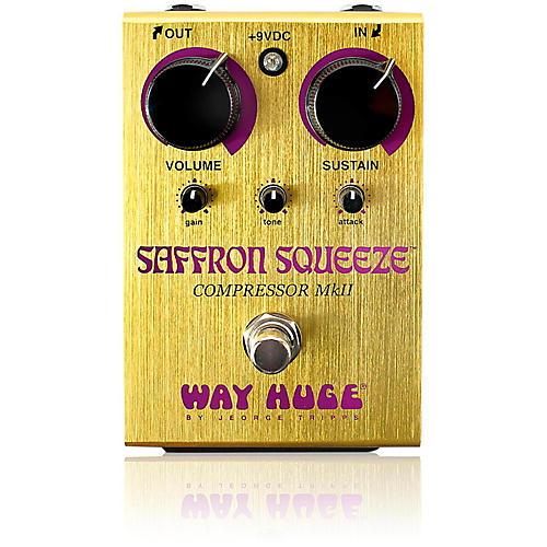 Way Huge Electronics Saffron Squeeze Compressor Guitar Effects Pedal