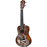 Sailor Jerry Mahogany Concert Ukulele Natural with Graphic