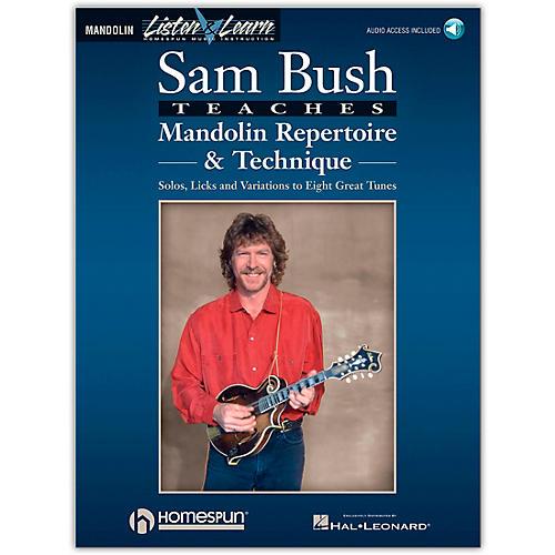 Homespun Sam Bush Mandolin Repertoire & Technique Book/CD Listen & Learn Series