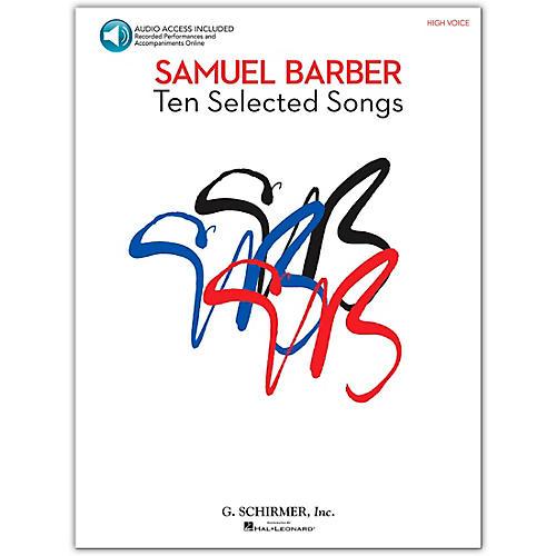 G. Schirmer Samual Barber - Ten Selected Songs High Voice Book/CD-thumbnail