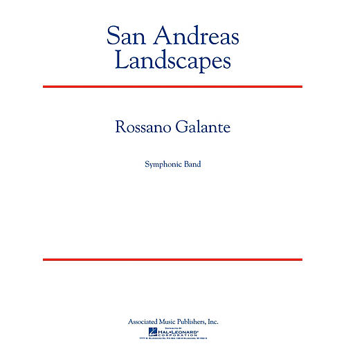 G. Schirmer San Andreas Landscapes Concert Band Level 5 Composed by Rossano Galante