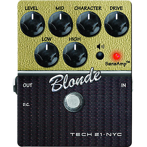 Tech 21 SansAmp Character Series Blonde V2 Distortion Guitar Effects Pedal-thumbnail