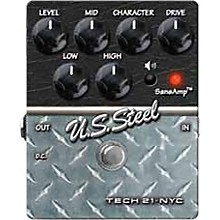 Tech 21 SansAmp Character Series U.S. Steel Distortion Guitar Effects Pedal Level 1