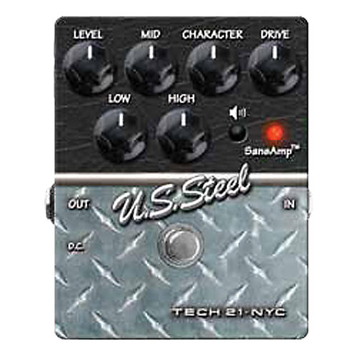 Tech 21 SansAmp Character Series U.S. Steel Distortion Guitar Effects Pedal