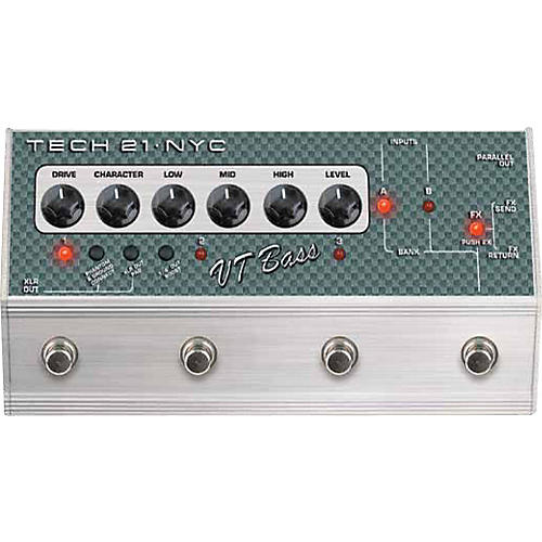 Tech 21 SansAmp Character Series VT Bass Deluxe Distortion Effects Pedal-thumbnail