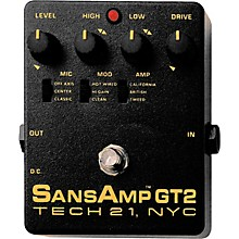 Tech 21 SansAmp GT2 Tube Amp Emulator Level 1