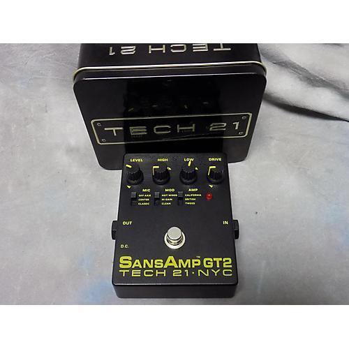 Tech 21 Sansamp GT2 Tube Amp Emulator Effect Pedal-thumbnail