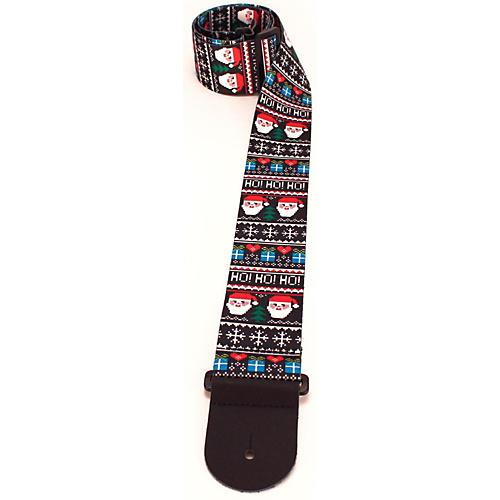 Perri's Santa Ugly Sweater Pattern Guitar Strap-thumbnail