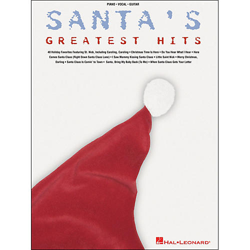 Hal Leonard Santa's Greatest Hits arranged for piano, vocal, and guitar (P/V/G)