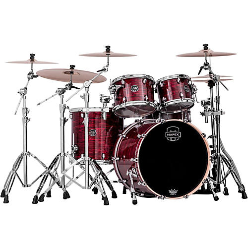 Mapex Saturn V 4-Piece Rock Shell Pack Red Strata Pearl Custom Wrap