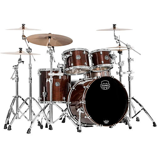 Mapex Saturn V 4-Piece Rock Shell Pack Transparent Espresso Walnut