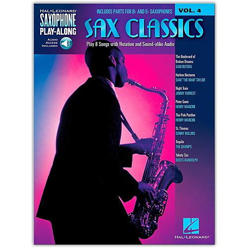 Hal Leonard Sax Classics - Saxophone Play-Along Vol. 4 (Book/Online Audio)-thumbnail
