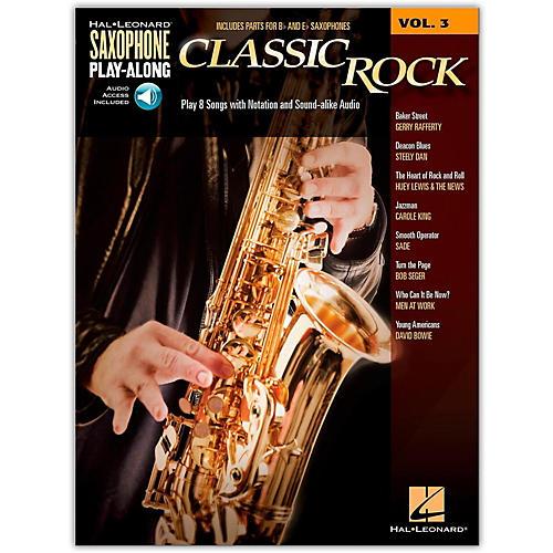 Hal Leonard Saxophone Play-Along Vol. 3 - Classic Rock (Book/Online Audio)-thumbnail